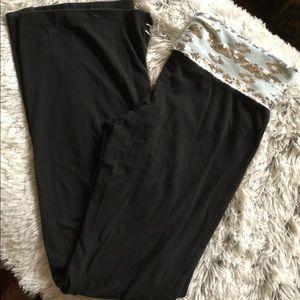PINK Victoria's Secret Silver Sequin Yoga Pants